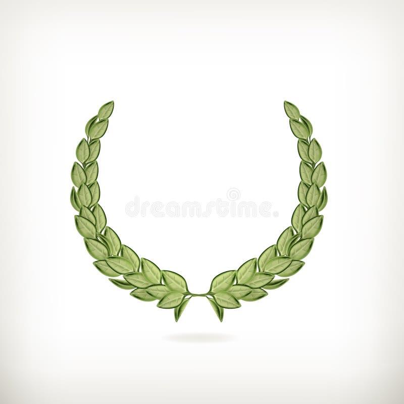 Guirlande de laurier, récompense verte illustration libre de droits