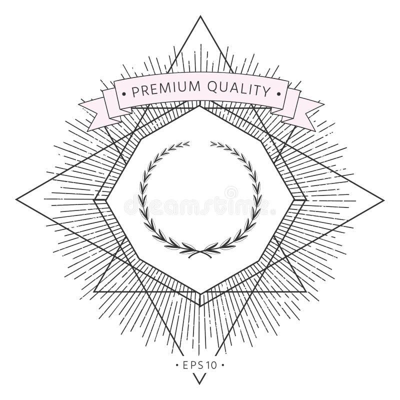 Guirlande de laurier, symbole illustration de vecteur