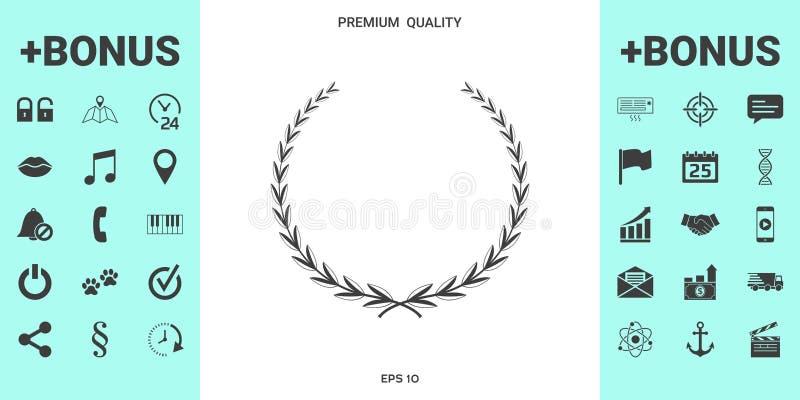 Guirlande de laurier - symbole illustration libre de droits
