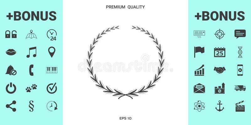 Guirlande de laurier, symbole illustration libre de droits