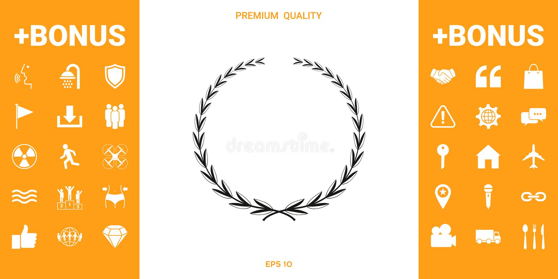 Guirlande de laurier, symbole illustration stock