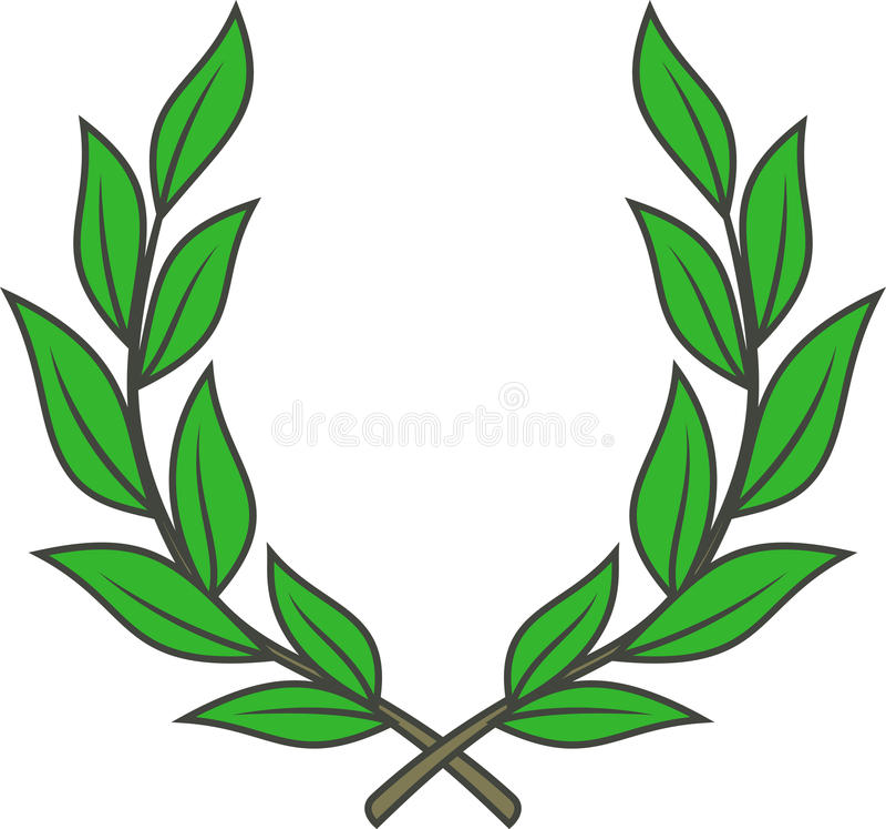 Guirlande de laurier (vecteur) illustration de vecteur