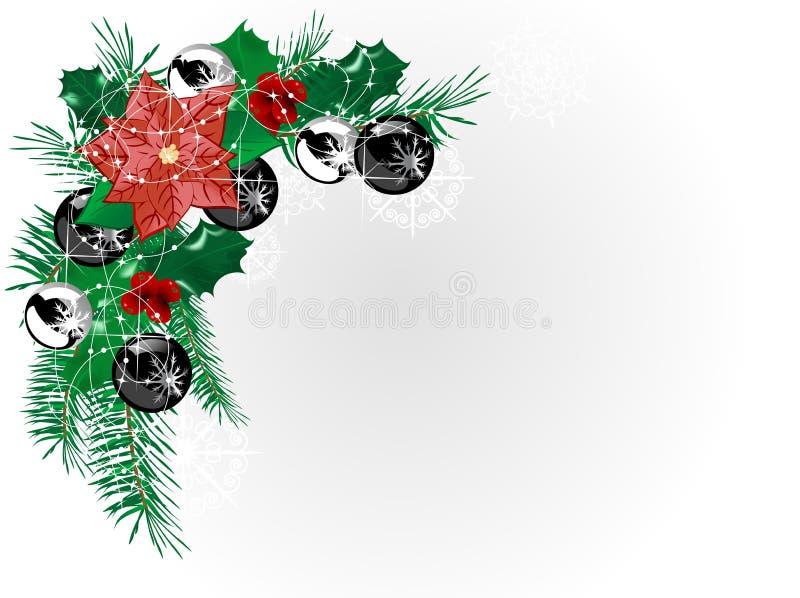 Guirlande de Noël illustration stock
