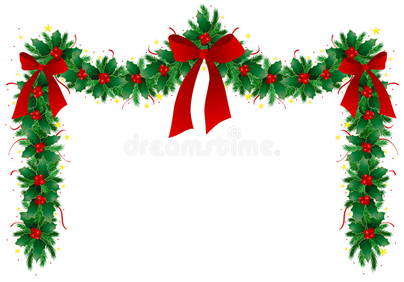 guirlande de Noël illustration libre de droits