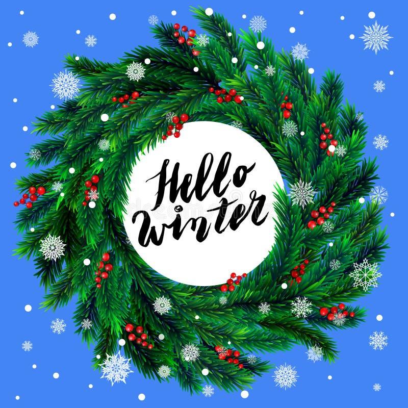 Download Guirlande De Noël Avec Les Baies Rouges Illustration de Vecteur - Illustration du hiver, sapin: 76083158