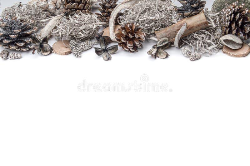 Guirlande de Noël blanc photo libre de droits