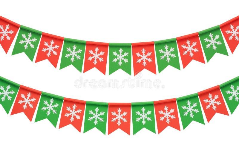 Guirlande de Noël d'isolement sur le fond blanc image libre de droits