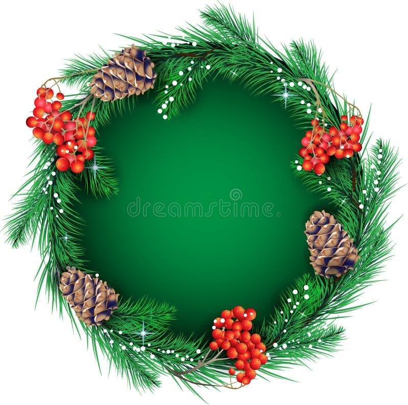 Guirlande de Noël pour le texte illustration de vecteur