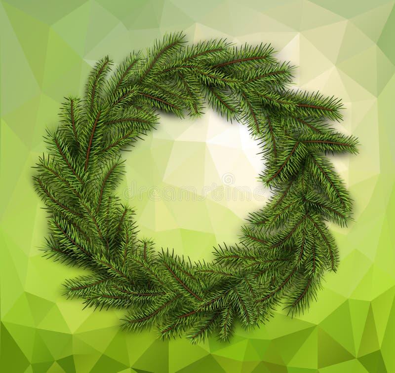 Guirlande de Noël sur le fond abstrait illustration libre de droits