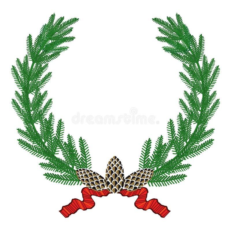 Guirlande de pin illustration de vecteur