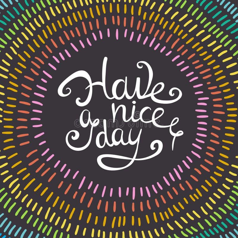 Guirlande de vecteur avec les courses colorées d'arc-en-ciel Ayez une carte de beau jour illustration libre de droits