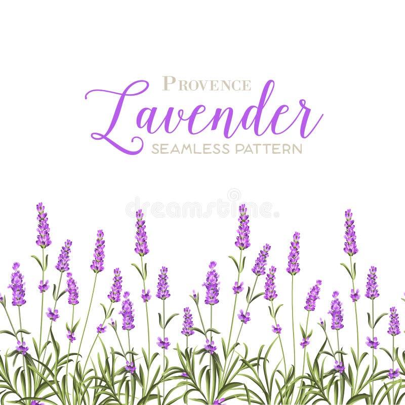 Guirlande des fleurs de lavande illustration de vecteur