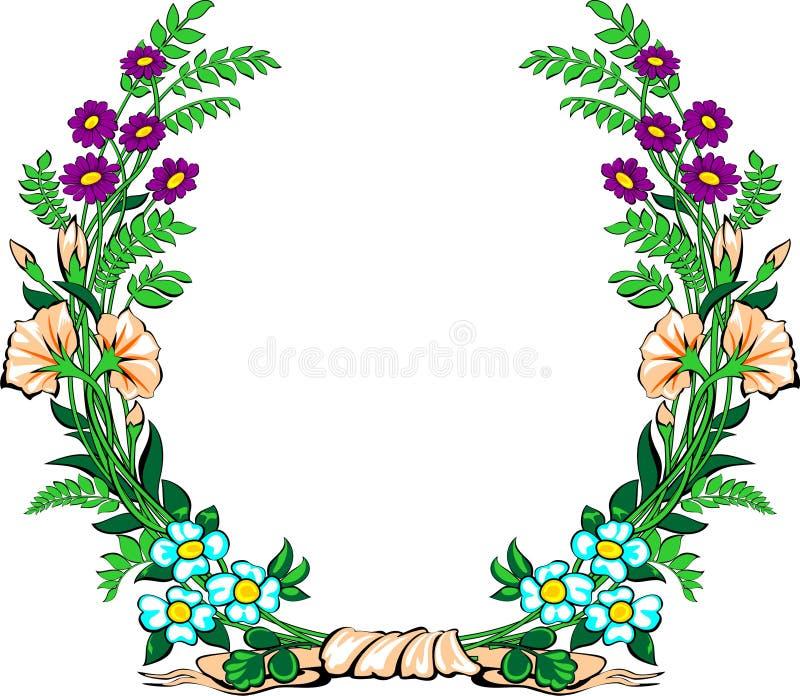 Guirlande florale illustration stock