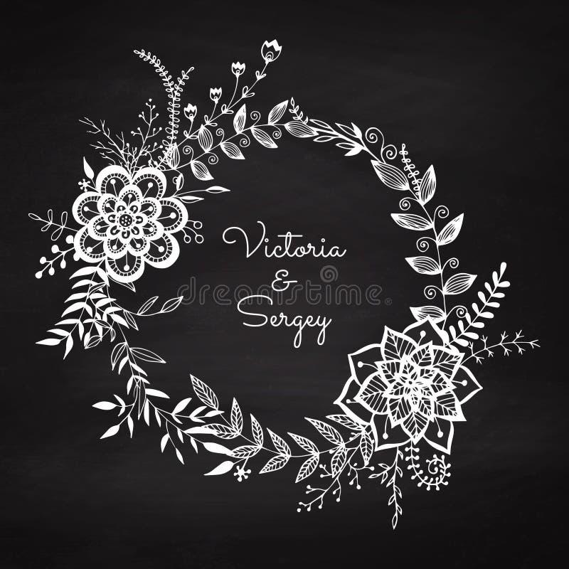 Guirlande florale illustration de vecteur