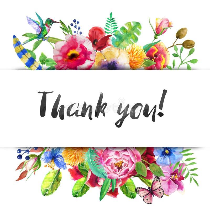 Guirlande florale de vintage illustration libre de droits
