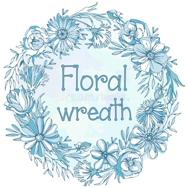 Guirlande florale magnifique photos libres de droits