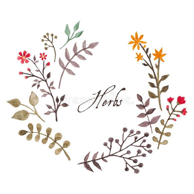 Guirlande ovale florale simple et mignonne illustration de vecteur