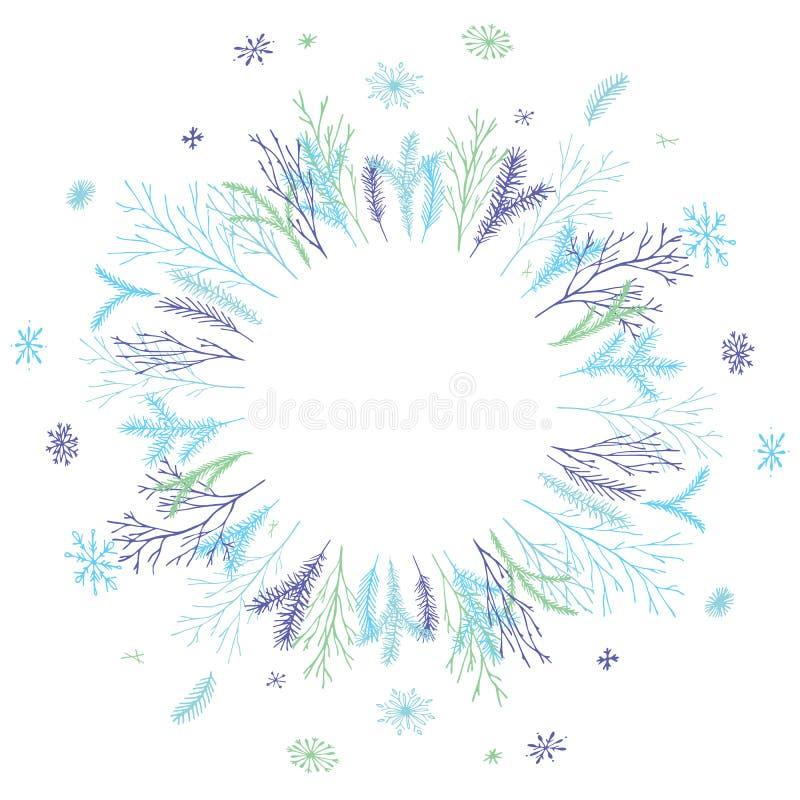 Guirlande ronde florale illustration de vecteur