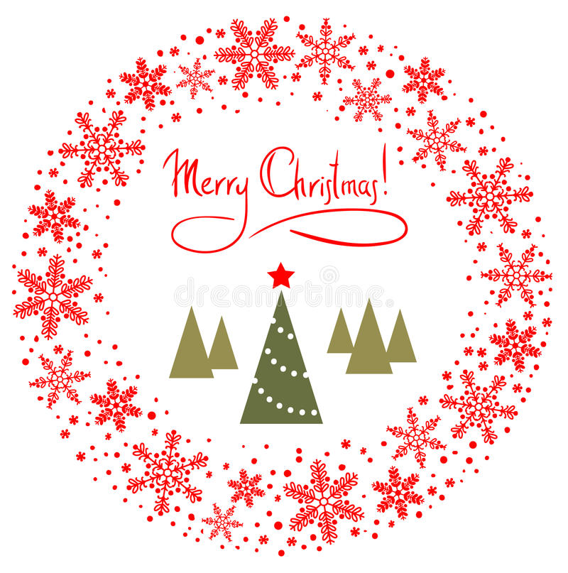 Guirlande rouge de Noël illustration de vecteur