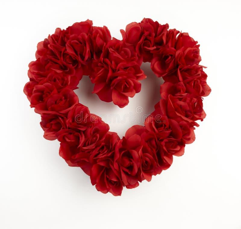 Guirlande rouge en forme de coeur images libres de droits