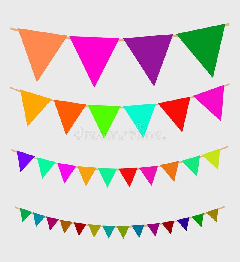 Guirlande sans couture avec des drapeaux de célébration illustration libre de droits