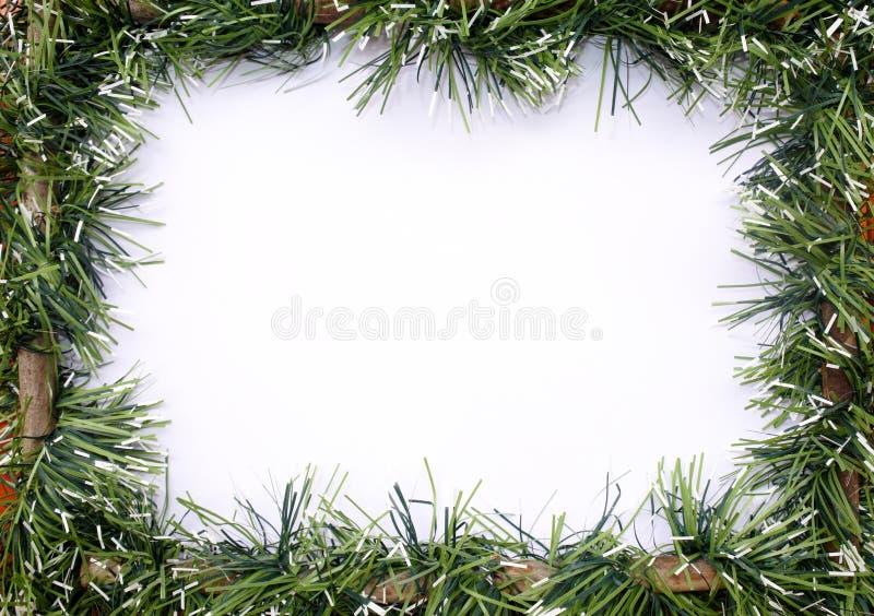 Guirlande verte de Noël de tresse photographie stock libre de droits