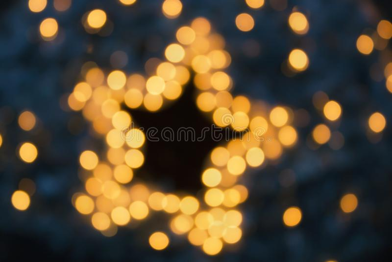 Guirlandes, effets de la lumière de décorations de nouvelle année image libre de droits