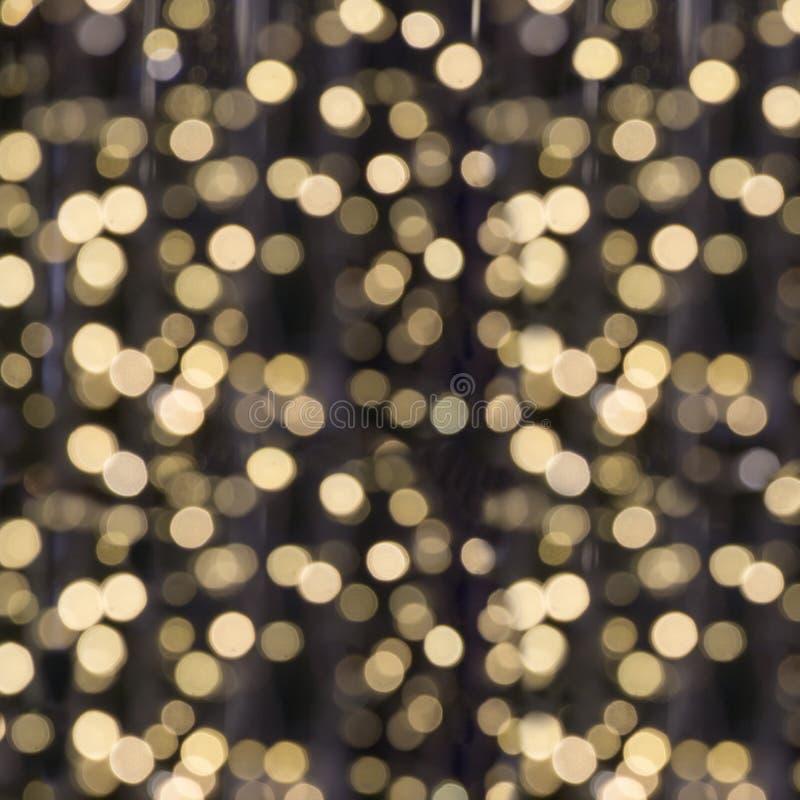 Guirnalda borrosa Bokeh de la falta de definición de la luz de la ciudad, fondo defocused Extracto de la Navidad foto de archivo