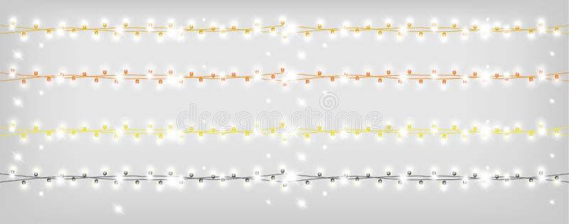 Guirnalda brillante del oro de la Navidad libre illustration