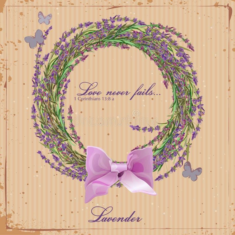 Guirnalda de hierbas de Provence ilustración del vector