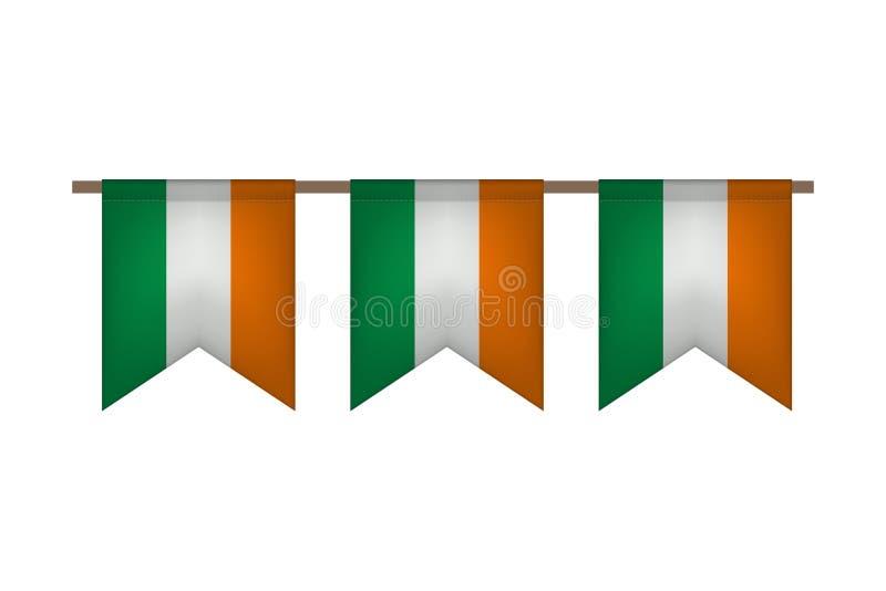Guirnalda de la bandera de Irlanda libre illustration