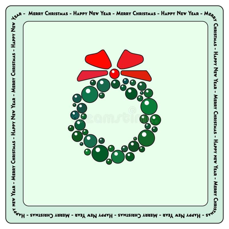Guirnalda 3 de la chuchería de la Navidad stock de ilustración