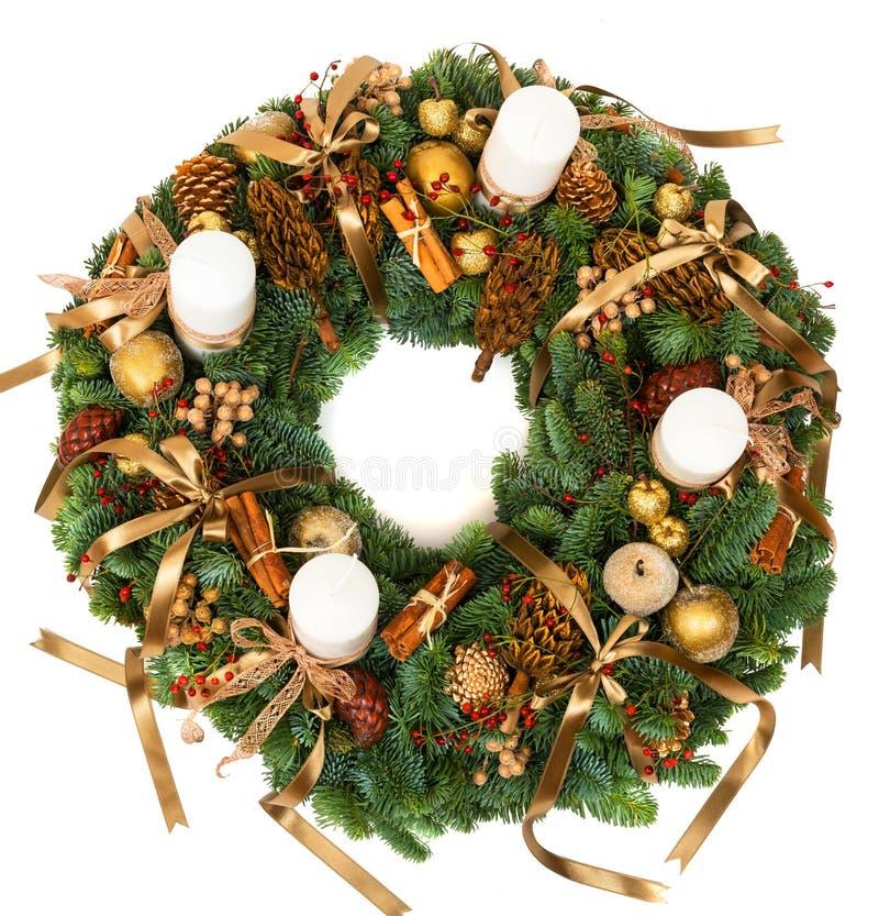 Guirnalda de la decoración de la Navidad fotografía de archivo libre de regalías