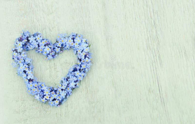 Guirnalda de la flor de la nomeolvides imagen de archivo libre de regalías
