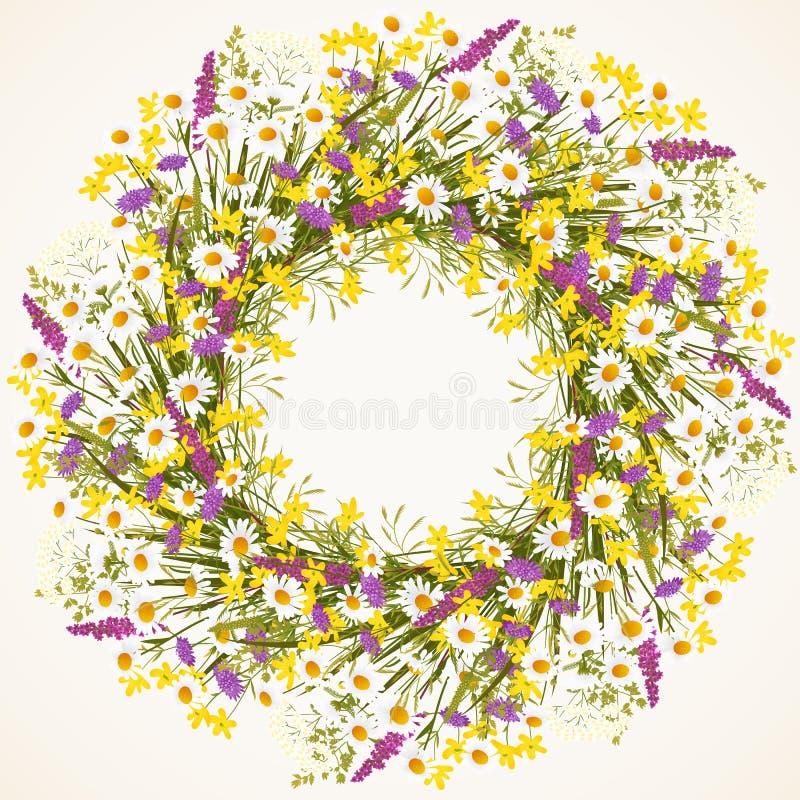 Guirnalda de la flor salvaje ilustración del vector