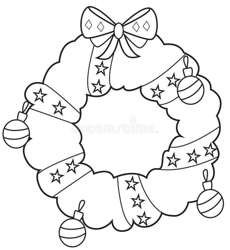 Guirnalda 2 de la Navidad ilustración del vector