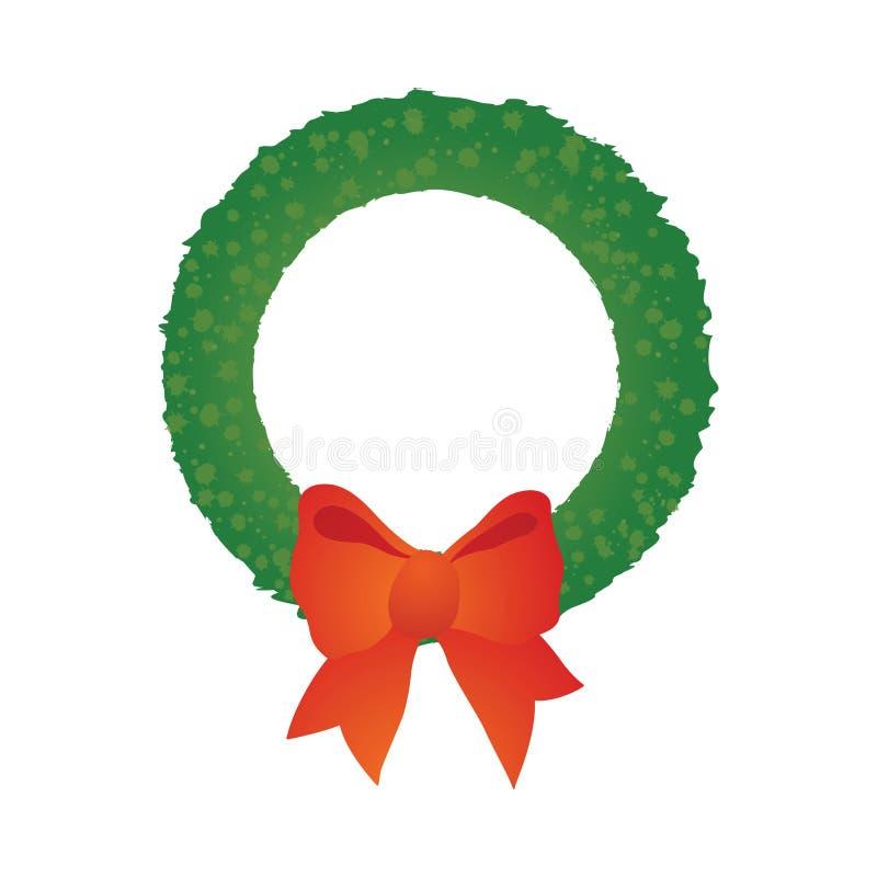 Download Guirnalda de la Navidad ilustración del vector. Ilustración de grunge - 7287610
