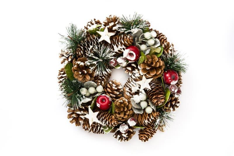 Guirnalda de la Navidad aislada en el fondo blanco fotos de archivo libres de regalías