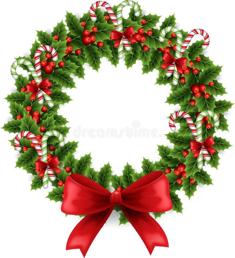 Guirnalda de la Navidad con el arqueamiento libre illustration