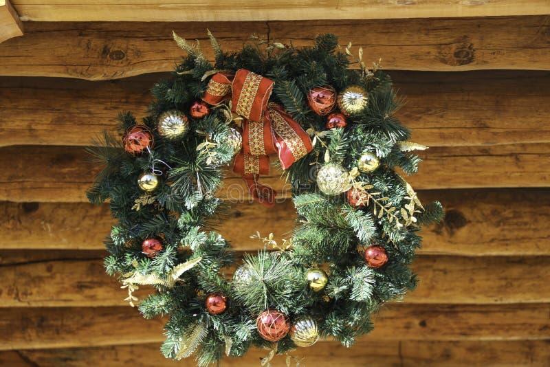 Guirnalda de la Navidad del día de fiesta foto de archivo