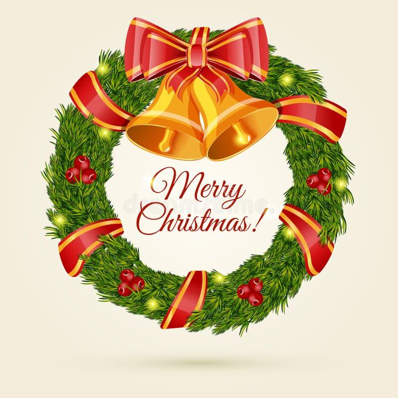 Guirnalda de la Navidad. Ejemplo del vector. stock de ilustración
