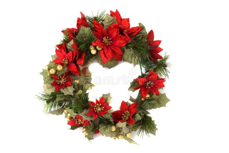 Guirnalda De La Navidad En Fondo Aislado Fotografía de archivo libre de regalías