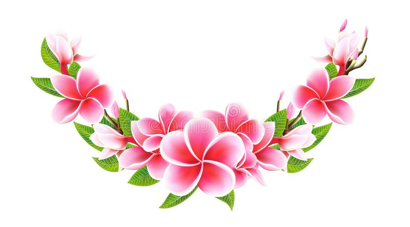 Guirnalda de la tarjeta de la invitación de la boda de la postal de día de San Valentín media con las flores del lirio foto de archivo libre de regalías
