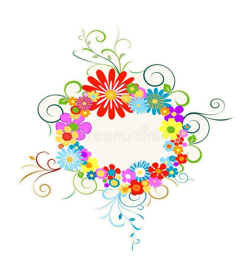 Guirnalda de las flores stock de ilustración