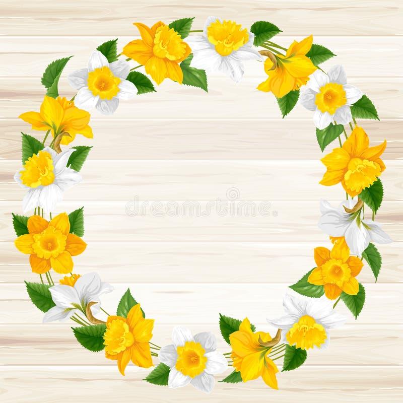 Guirnalda de las flores de la primavera ilustración del vector