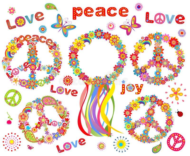 Guirnalda de las flores del hippie libre illustration