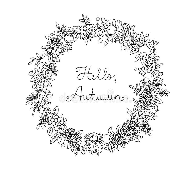 Guirnalda de las hojas de otoño libre illustration
