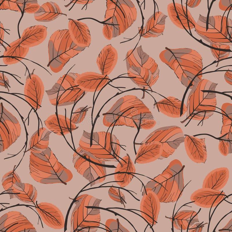 Guirnalda de las hojas de otoño inconsútiles libre illustration