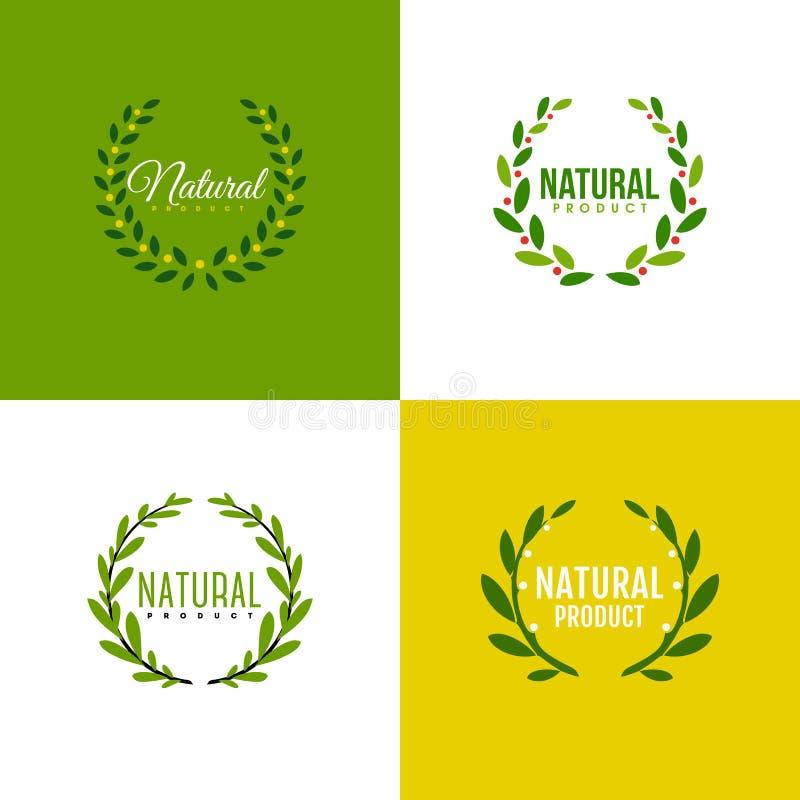 Guirnalda de ramas con las hojas Diseño de producto natural libre illustration