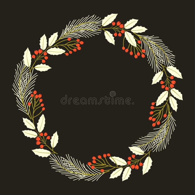 Guirnalda decorativa de la Navidad Ilustración del vector ilustración del vector